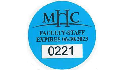 Photo of a faculty/staff parking decal