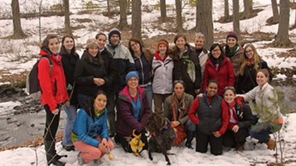 Photo of the Restoration Ecology class in Spring, 2013