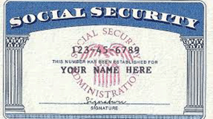 Photo of a social security card