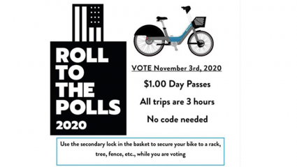 Valley Bike share Roll to the Polls