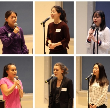 MHC Chinese Speech Contest participants