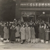 First-year students wait in line for ice cream on Founder's Day 1938