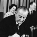 President Lyndon Johnson signs the Medicare Bill into law- photo courtesy of AP and Daily Hampshire Gazette.