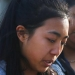 Student at a vigil for Nepal earthquake victims. Gazette photo by Dan Little.