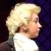 """Rachael Riley Smith '15 rehearses """"She Stoops to Conquer.""""  Photo by Lara Dubin"""
