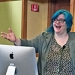 """Cathy O'Neil, author of New York Times bestseller """"Weapons of Math Destruction,"""" spoke at Mount Holyoke on April 8."""