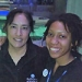 Chynna Taylor '17 and Holly Bourbon '87 at the National Aquarium.