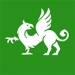 This is a stylized graphic of a green griffin, the class  color and symbol of the senior class at Mount Holyoke.