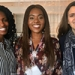 Mount Holyoke students (from left) Tracy Keya '18, Mosimiloluwa Esan '18 and Sarah Sarah McCool '18 won a business ethics competition by arguing that Apple Inc. must move to improve conditions in cobalt mines in the Democratic Republic of the Congo.